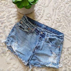 BDG Tomgirl cut off jean shorts